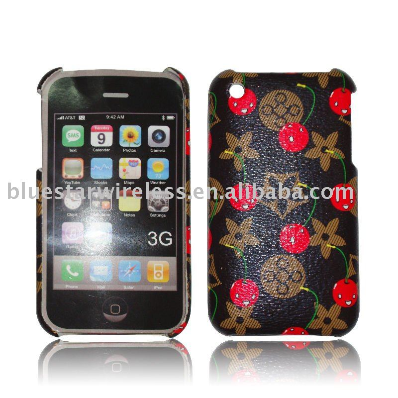 Leather Coat Hard Back Cover Case For iPhone 3G 3GS