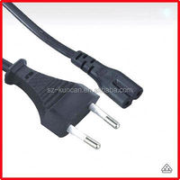 AC power cord,europe 2 pin plug flat cable