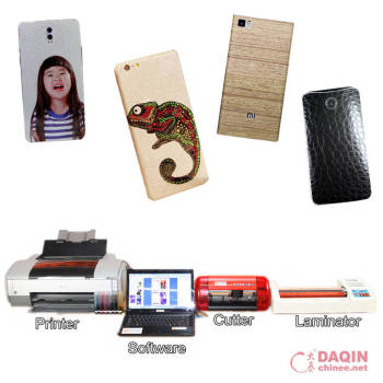 Custom mobile 3d sticker cover printer