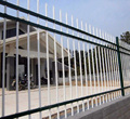 European Galvanized and PVC coated iron art garden/residential fence