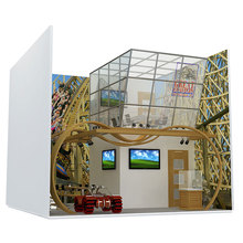 Traditional aluminum profile modular exhibition stand booth design