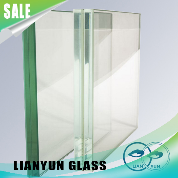 Safety Cheap 6.38mm Building Glass Wall Frame Tempered Laminated Glass