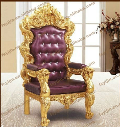 royal high back carved antique king chair