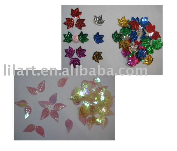 Promotional gifts colorful shaped leaf confetti sequin for party wedding and home decoration