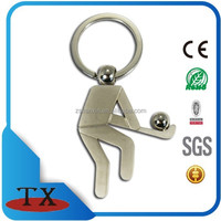 silk print metal sport hockey keyring