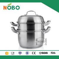 non-magnetic 201 2-layer stainless steel steamer