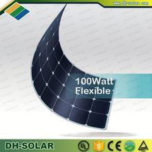 2016 high efficiency solar cell for sale low pv solar panel price 100W bendable photovoltaic modules