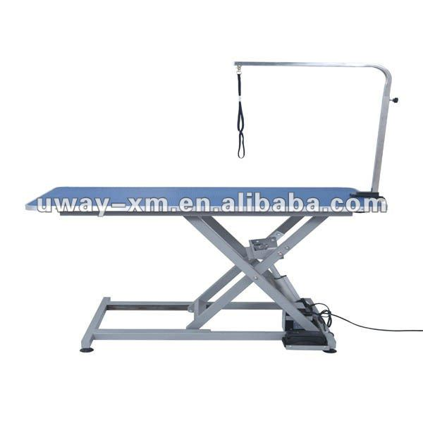 Electric inclined-strut adjustable stainless steel pet grooming table for dogs,blue surface