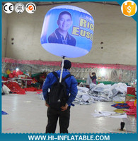 Walking Advertising Inflatable Backpack Balloon /ball