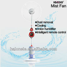 The fans has to blow cool mist injection generated reactive oxygen ions and the sterilization function