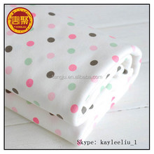 Knitting cotton fabric wholesale with custom double sides cloth suitable fabrics for pajamas