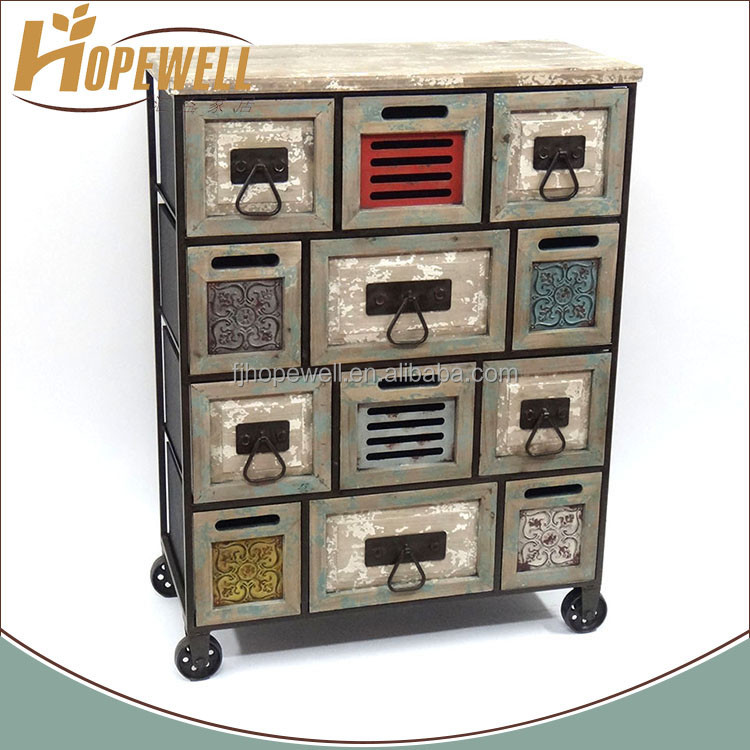 Wholesale retro drawer mdf pray chinese cabinet