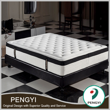 Modern bedroom furniture King Size Latex Pocket Spring Mattress With Bamboo Cover