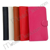 Magnetic Flip Stand Leather Case with Card Slots + Inner TPU Case for Samsung i9150 Galaxy Mega 5.8 i9152