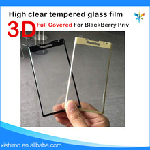3D Full cover tempered glass film 9H anti broken clear screen protector for BlackBerry Priv