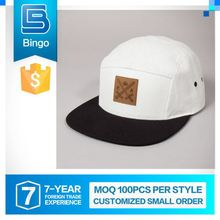 Top Selling Excellent Quality Humanized Design Small Order Custom 5 Panel Snapback Cap