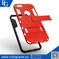 High evaluation Slim armor Hybrid PC+TPU anti-slip silicone mobile phone cases with kickstand for iphone6 plus