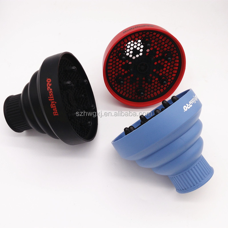 Collapsible folding universal silicone hairdryer hair dryer curl diffuser