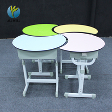 Classroom tables round style study ergonomic student desk and chair