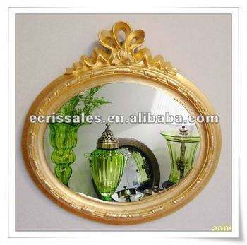 overmantle decorative mirror,oval mirror,gold mirror