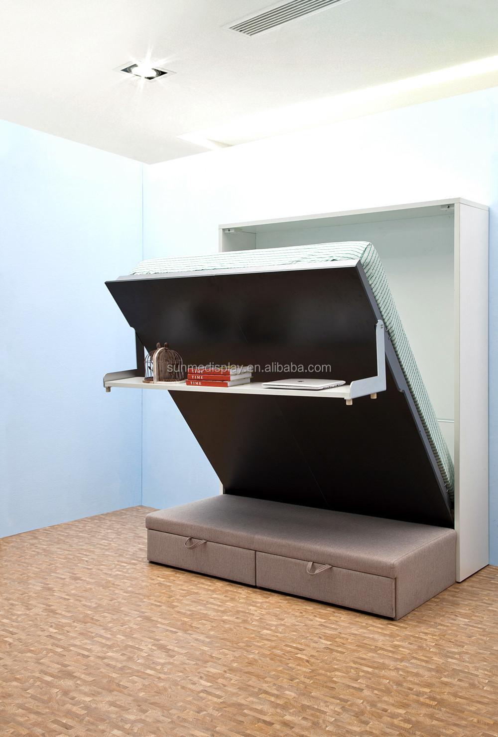 현대 스마트 공간 절약 가구 DIY 나무 벽 소파 접이식 침대-침대 ...
