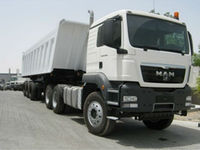 MAN 6X4 DUMP TRUCK 440HP MAN truck 2013 MODEL: TGS 40.440 BBS-WW with ATLAS TRIPPER TRAILER 40TON