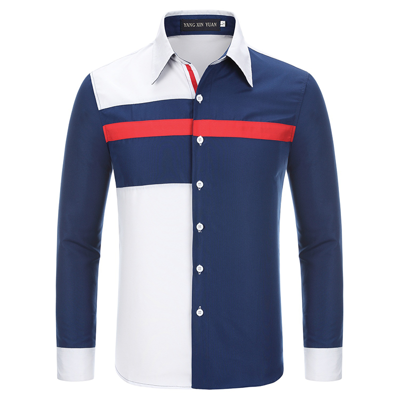 Features Shirts Men Casual Jeans Shirt New Arrival Long Sleeve Casual Slim Fit Male Shirts