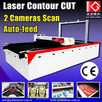 sublimated dye textile cutting machine / laser cut digital printing fabrics