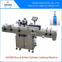 Full-Automatic price label applicator soft drinks bottles labeling machine