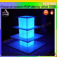 led lights for wedding cakes display cabinet decoration