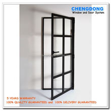 JHK-F04 Replacement Price Living Room / Bathroom Cabinet Glass Partition Design Wood Flush Door