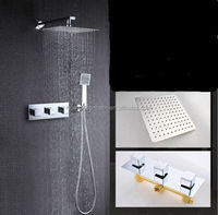 "Concealed Shower Set.Concealed Shower Faucets 12"" Chrome SS Shower Head Set"