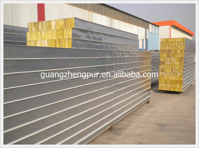 Fire Rated Thermal Insulation Rock Wool Sandwich Wall
