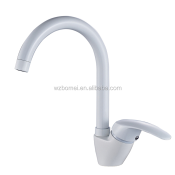 e-pak single handle deck mounted white faucet