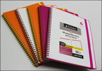 Hot selling spiral note book with elastic closure