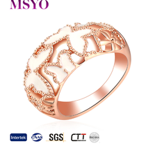 MSYO brand new trends fashion butterfly rose gold rings