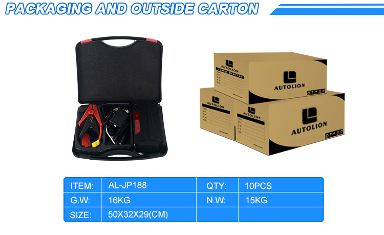 Hot new portable 18000mah epower auto electric car battery jump starter