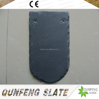 Cheap And Natural Stone Fish Scale Shape Black Scalloped Roofing Slate Tile