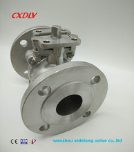 stainless steel 2PC ball vale flanged calss 150 high mount pad