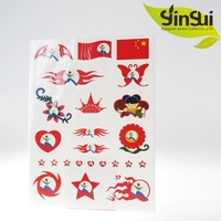 wholesalers china country flag temporary tattoo sticker