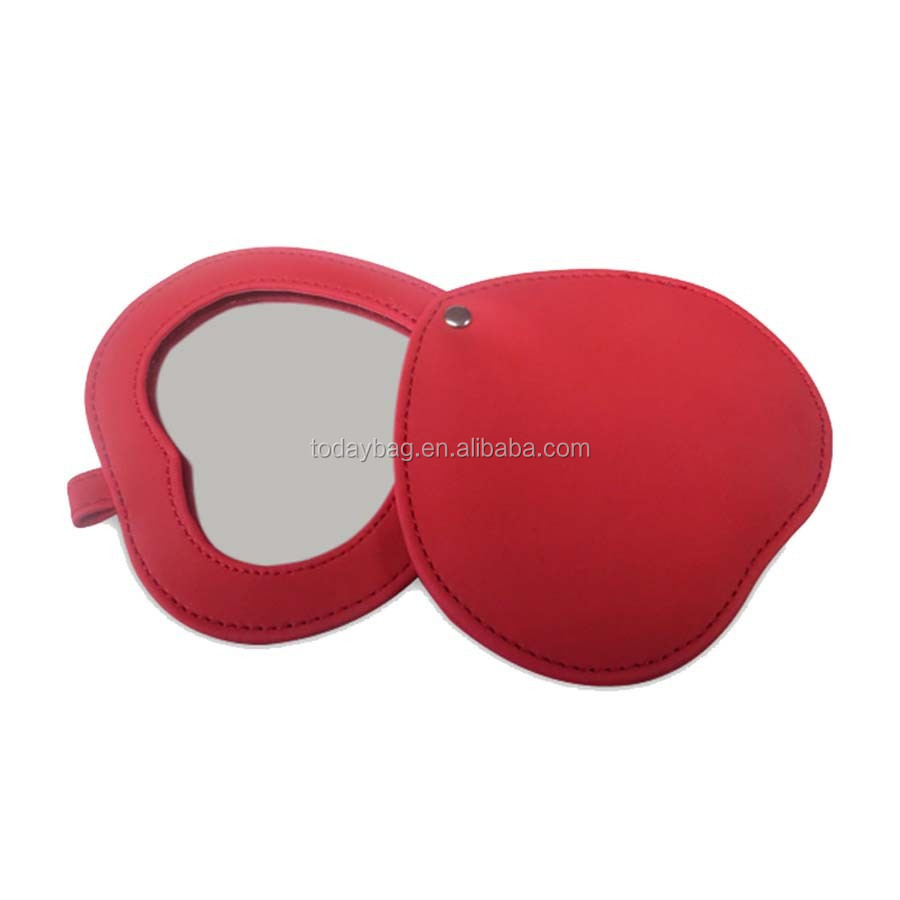 heart shaped handheld mirror