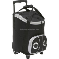 Beach trolley cooler bag/rolling speaker cooler