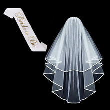veil with comb & bride to be sash wedding bachelorette party decorations