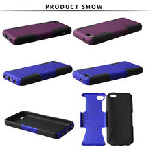 new inventor perfect silicon gel +pc mesh rubber hard case for iPhone 5C mobile phone