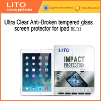 Ultra Clear 9h hardness tmepered glass screen protector for ipad mini