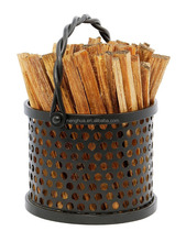 Twisted Rope Fatwood Caddy,firewood fireplace