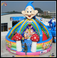 factory directly sell smurf castle with slide , inflatable smurf slide , inflatable smurf castle for play park