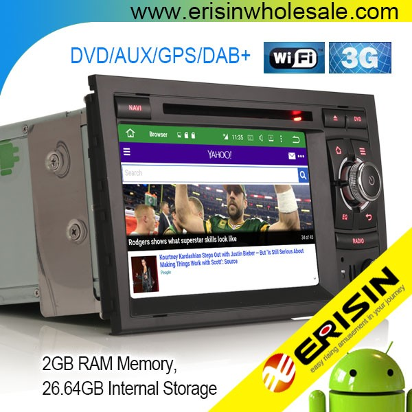 "Erisin ES6028A 7"" Android 6.0 Car Radio DVD CD Player GPS Navigation for A4 RS4 B9"