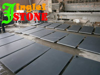Natural Black Honed Granite honed finished slab for wall tiles