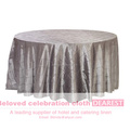 hot sale wholesale polyester restaurant/weeding/meeting/banquet sliver table cloth